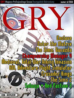 GRY Numer  6/2003  - Dla GOLMAX i MayClub