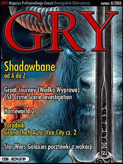 GRY Numer  8/2003  - Dla GOLMAX i MayClub