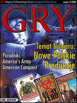 GRY Numer  9/2003  - Dla GOLMAX i MayClub